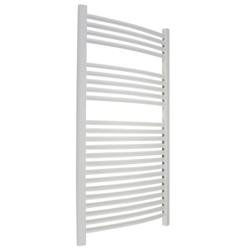 Abacus Elegance Radius Curved Towel Rail - 1120mm x 600mm - White